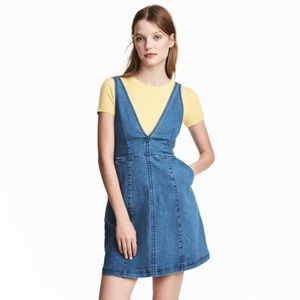 Sleeveless V-Neck Denim Mini Dress